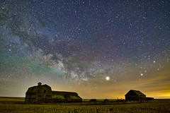 Milky Way April 7th -Counting stars (John Andersen (JPAndersen images)) Tags: abandoned airglow alberta aurora canon cluny cold constellations farm night pond sky spring stars