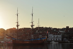 Endeavour & Whitby (Mike.Dales) Tags: barkendeavour whitby ship harbour riveresk northyorkshire england captaincook canon50mmf18stm