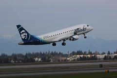ERJ-175 N629QX Seattle Tacoma 25.03.19 (jonf45 - 5 million views -Thank you) Tags: seattle tacoma airport ksea seatac airliner civil aircraft jet plane flight aviation flying usa march 2019 alaska airlines embraer erj175 n629qx erj 175