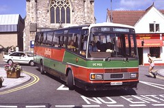 UC902. AAX 488A: Red & White (originally SDW 918Y) (chucklebuster) Tags: aax488a sdw918y leyland tiger plaxton paramount chepstow national welsh uc1202