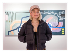 Artist Kayleigh Marshall aka Marshall Art Life, Deptford Does Art, Deptford, South East London, England. (Joseph O'Malley64) Tags: marshallartlife artist exhibition flow deptforddoesart deptford southeastlondon london england uk britain british greatbritain art artistry artworks abstracts abstractart gallery paintings panels portrait artistportrait woman womanartist femaleartist artistic painter muralist streetartist streetart fujix fujix100t accuracyprecision kayleighmarshall