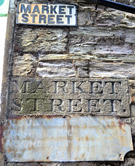 Market Street (R~P~M) Tags: sign street bodmin town name faded weathered cornwall kernow england uk unitedkingdom greatbritain