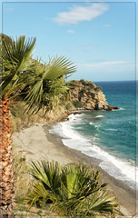 Maro (Astrid Photography.) Tags: playademaro andalucia astridphotografie spain sea beache baai palmtree waves blueskynature landscape rocks costatropical costadelsol explore