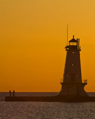 END OF THE ROAD (ddt_uul) Tags: michigan lakemichigan lake water greatlakes lighthouse ludington sunset golden wateroceanslakesriverscreeksr