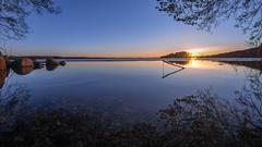 Sunset (Kari Siren) Tags: sunset lake evening spring karijarvi jaala finland
