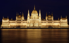 (A Sutanto) Tags: budapest night hungary parliament building river danube reflection