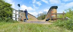 The Wait (robmcrorie) Tags: railway photography wait camera tripod bridge barrow trent phantom 4