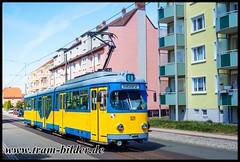 521-2019-04-25-1-Goethestraße (steffenhege) Tags: gotha thüringerwaldbahn überlandbahn strasenbahn streetcar tram tramway duewag gt8nf 521