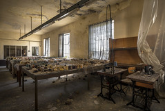 Samples (Camera_Shy.) Tags: textile mill fabrica derelict abandoned urban exploration road trip urbex old building weaving machinery machine disused italy decayed ue tresspassing photography rusty exploring decay abandonado forgotten machines spinning clothing rotten nikon d810 singer sewing