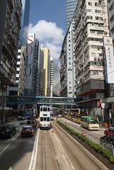 Going Solo (Longreach - Jonathan McDonnell) Tags: hongkong hongkongisland dsc0010 hongkongtramways hongkongtram154 154 maya skyscraper