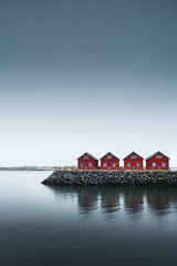 Lofoten classics (Martijn Kort) Tags: lofoten roburer red cabins redcabins houses norway morning moody rain minimal minimalistic zeiss batis landscape architecture