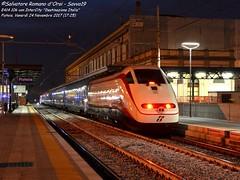 FrecciaBianca a Pistoia (Salvatore Romano d'Orsi - Savvo19) Tags: savvo19 fs trenitalia e414 frecciabianca treno sdestinazione italia stazione pistoia toscana trasporto veicolo