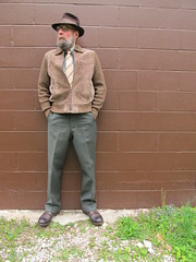 5-6-2019 Today's Clothes (Michael A2012) Tags: this mans spring style vintage fashion stetson whippet fedora hat fur felt botany worsted mills bonaire wool southern athletic us army serge lands end cotton anthony foxx suede red wing iron ranger amber harness leather