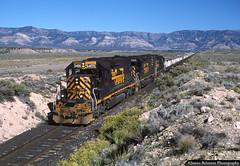 The Sunnyside Subdivision (jamesbelmont) Tags: riogrande drgw unionpacific ljp45 dirttrain eastcarboncity columbiajunction ecdc sunnysidesubdivision utah emd sd40t2 bookcliffs train railroad railway locomotive