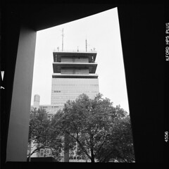 Stadt (tiltdesign2016) Tags: köln analogphotography adonalrodinal150 bw mittelformat yashicamat124g canoncanoscan9000f ilfordhp5400 fassade