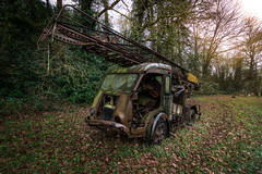 Apocalyptic truck (ForgottenMelodies) Tags: urbex decay truck exploration lost indoor abandoned pentax k3 rust car oublié derelict france urban europe forgotten abandonné