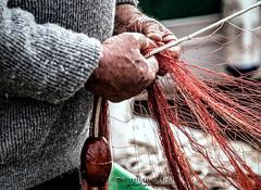 la rete (ninomele) Tags: italy rete pesca fisherman canon mani hands lavoro work latina lazio mare sea 24105mm