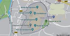 CARCASSONNE-021-AUDE -OCCITANIE- FRANCE-PLAN  SCHEMATISE DE LA CITE (bercast) Tags: aude carcassonne chateaumedival france occitanie ue bc bercast lacitédecarcassonne