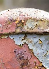 Macro Monday Challenge 29th april (alderson.yvonne) Tags: eyeofthebeholder rusty paint flakes corroded macromondays erode metal rust