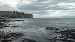 Split Rock Lighthouse (Lzzy Anderson) Tags: splitrocklighthouse splitrocklighthousestatepark minnesota minnesotastatepark statepark lakesuperior northshore upnorth may spring 2019 clouds stormclouds fog fogwall rock longexposure cliff lighthouse water lake