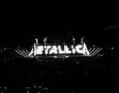 METALLICA in Barcelona (Elena SGnight) Tags: metallica concert concierto barcelona estadi estadio music musica rock band instrument instrumental song songs blackandwhite dark heavy rocker metal people sunday lluiscompanys sky lights light night ights nights stage views sound loud spain guitar electricguitar