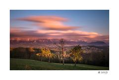 Windy sunset ! (pdel64@photography) Tags: sky cloud sunset blue orange annecy hautesavoie alps alpes