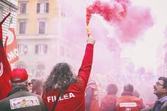 DSCF7244 (Alessandro Gaziano) Tags: alessandrogaziano roma foto fotografia reportage gente people italia visioni diritti italy manifestazione sindacato colori colors suoni