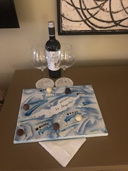 Welcome chocolates and wine at the Four Seaons Resort, Anguilla