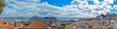 ... above the roofs ... (wolli s) Tags: panorama lisboa lissabon stitched nikon d7100 lisbon roof aida diva port habour portugal kreuzfahrt
