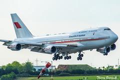 [ORY] Bahrain Amiri Flight Boeing 747-4P8 _ A9C-HMK (thibou1) Tags: thierrybourgain ory lfpo orly spotting aircraft airplane nikon d810 tamron bahrain bahrainroyalflight bah001 boeing b747 b7474p8 a9chmk stn amiriflight bahrainamiriflight b744 b747400 landing