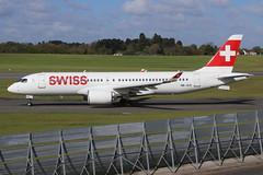 Swiss Airbus 220-300 HB-JCO (Retro Jets) Tags: swiss a220 bhx