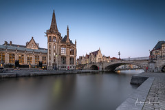 Ghent Blue Hour III (Alec Lux) Tags: graslei architecture belgie belgium blue bluehour building buildings canal city cityscape exterior facade gent ghent golden goldenhour haida haidafilters lights longexposure outdoor outside reflection skyline urban water