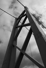 (Devin Walker) Tags: nikon d200 bridge forthroadbridge bw monochrome tower beams