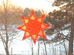 Window Star (Pictures by Ann) Tags: windowstar waldorfwindowstar origami kitepaper etsy harvestmoonbyhand waldorf craft craftproject orange