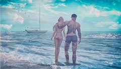 ʸᵒᵘ ᵃⁿᵈ ᵐᵉ.... (scarlettrose.karsin) Tags: norderney sldestinations explore blueberry maitreya signature doux modulus beach couple love sl secondlife