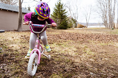Z gets a bike! (kandisebrown) Tags: 2019 fredericton newbrunswick sonya7iii may2019 2yearsold zara babybrodin