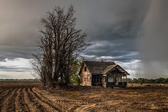 Vale, Oregon (paccode) Tags: solemn shack landscape bushes dirtroad serious quiet colorful barn tree forgotten d850 house home brush farm abandoned rain scary creepy vale oregon unitedstatesofamerica