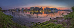 District Wharf Along the Washington Channel (D. Scott McLeod) Tags: washington washingtondc dc districtofcolumbia dawn reflection colorfulsky panorama nikon nikond850 dscottmcleod scottmcleod dcphotographer districtwharf