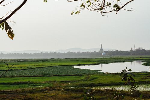 Dusk Over Crops, Mandalay Myanmar