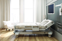 Gray walled hospital ward (Tekstur Surfaces) Tags: hospital ward bed room medical death care emergency floor health illness patient empty ambulatory blanket chair clinic comfortable equipment equipped healing healthy injury inside intensive interior medicine nobody sick stress treatment wellness white window surgery clinical help ill insurance pillow recover sickness treat healthcare curtain 3d render rendering illustration disease russianfederation