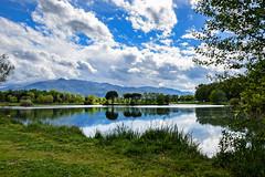 calme printanier (Dune 66) Tags: nature lac saint jean pla de corts reflets nuages ciel lake pyrénées orientales france ladscape groupenuagesetciel