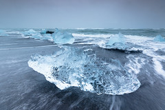 Jökulsárlón Beach III (craig.denford) Tags: jökulsárlón beach black sand iceland glacial lagoon canon 7d mark ii manfrotto lee filters craig denford