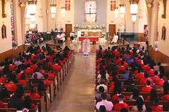 Confirmation Sunday (Prayitno / Thank you for (12 millions +) view) Tags: catholic church iglesia catolica catolico gereja katholik uskup obispo bishop confirmation red holy spirit faith