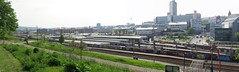 Sheffield - tracks and trails (simon edge) Tags: sheffield stitchedpanorama stitched msice canon g5x city