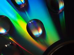 Drops on DVD media (ciddibirikiuc) Tags: dvdmedia penepl3 vivitar55mmf28macro m43turkiye m43turkiyecom