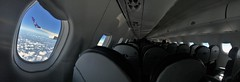 Inflight panorama (roomman) Tags: 2019 lot polish airlines lcy waw warsaw london city airport transport transportation flight jet embraer splma lma epwa eglc uk united kingdom england cabin inside panorama