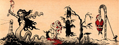 Horrorscape 1 (Tom Bagley) Tags: seawitch blood chillertheater vampire graves deadsanta bat swampofsomeravens crows lighthouse cartoon illustration markers ink pulp boobs tombagley calgary alberta canada
