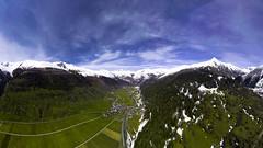Obergoms Panorama (willout.progression) Tags: obergoms wallis suisse schweiz nature sky snow blue green dji drone