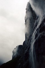 Waterfall (Bastiank80) Tags: minolta 35mm analog portra kodak lauterbrunnen wasserfall