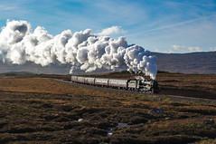 44871  Crossing Rannoch Moor. 16/10/2010. (briandean2) Tags: 44871 black5 lms steam railways westhighlandrailway westhighlands rannochmoor scotland uksteam ukrailways scottishrailways scottishsteam corrour